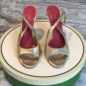 Kate Spade New York Gold High Heels Size 7.5
